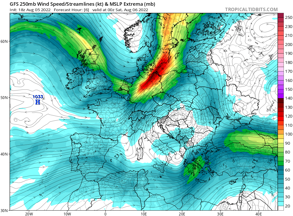 map for 250mb Europe Analysis - 06