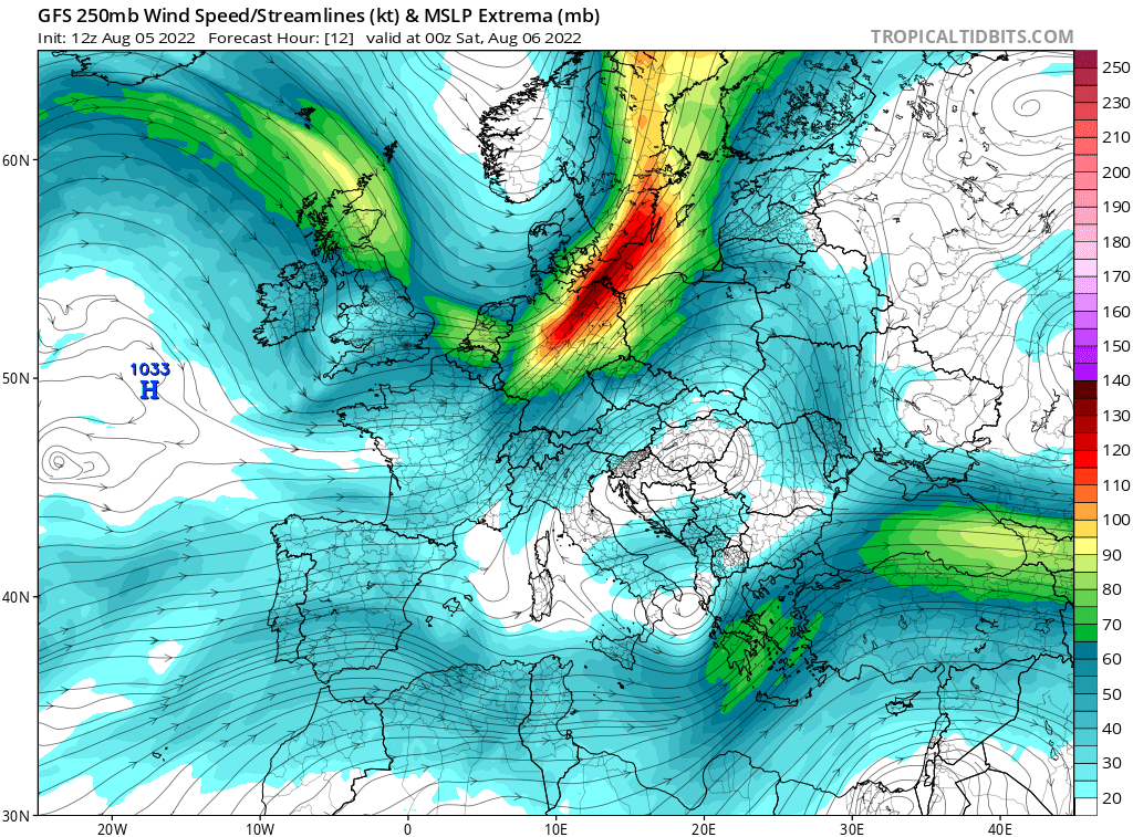 map for 250mb Europe Analysis - 12