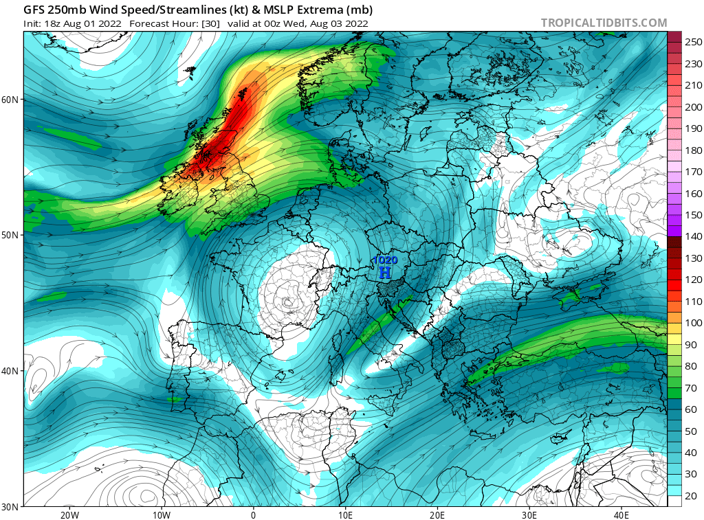 map for 250mb Europe Analysis - 30