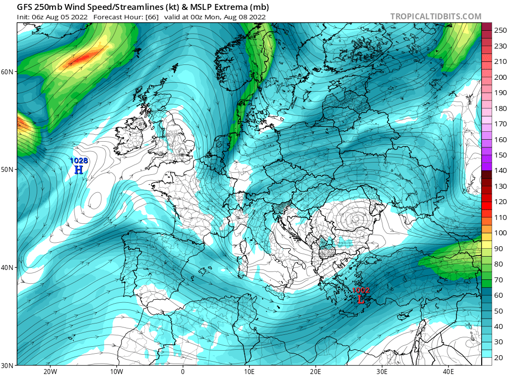 map for 250mb Europe Analysis - 66
