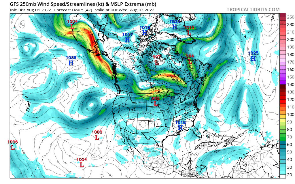 map for 250mb Canada and Mexico Analysis - 42
