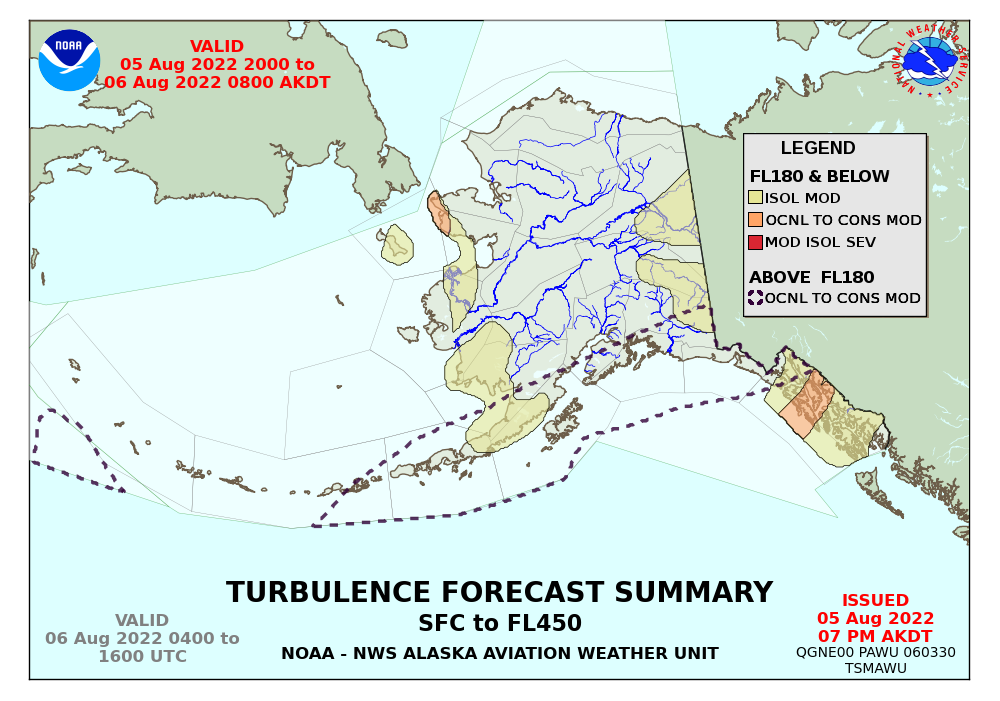 map for Alaska Turbulence