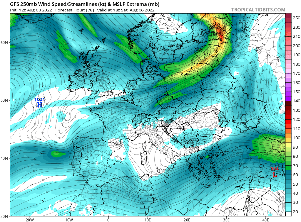 map for 250mb Europe Analysis - 78